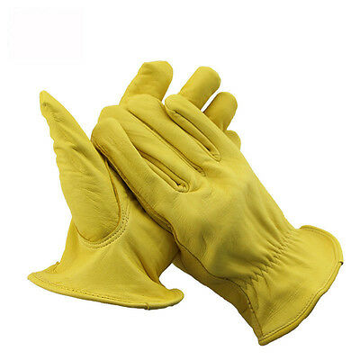 Work Gloves Suede Leather Heavy Duty Gloves Cutting Motorcycle Driving Cycling
