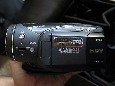 Canon HD Video Camera Canon HV30 Mini DV Tape 1080 High Definition Ex Cond