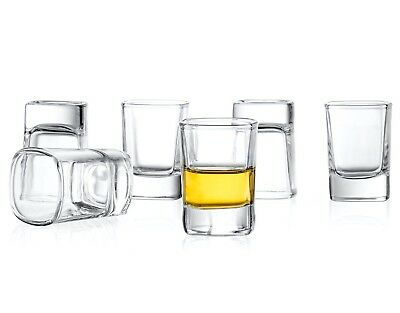 JoyJolt Shot Glasses Set of 6, 2 Oz Heavy Base Dishwasher Safe Shot Glasses