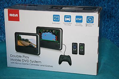 RCA Double Mobile DVD System W/game controller & gameS DRC62705E24G FACTORY NEW!