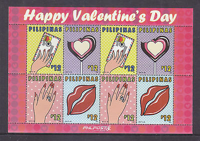 Philippines Stamps 2017 MNH Valentine sheetlet
