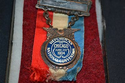 1904 Republican National Convention President Theodore Roosevelt Badge Medal