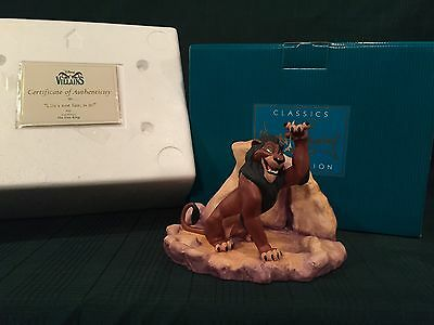"WDCC Lion King - Scar ""Life's Not Fair, Is It?"" New in Box"
