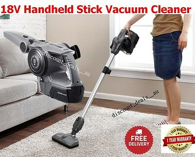 18V Stick Vacuum Cleaner Cordless Handheld Rechargeable Bagless with Accessories