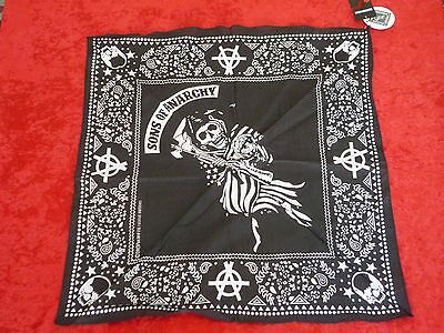 Sons Of Anarchy Black Official Bandana! Lightweight! NEW w/ Tags!! Nice!!