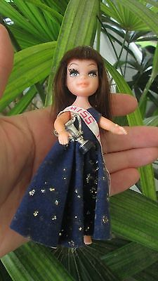 Vintage Super Rare Uneeda Tiny Teens Doll Prom Time 1967 With Trophy Miss Teen