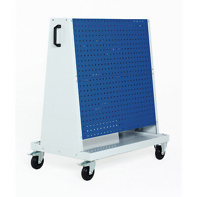 """Perfo-Tool Trolley, 2 Perfo Panels/Side, 39x18x47"""", Lot of 1"""