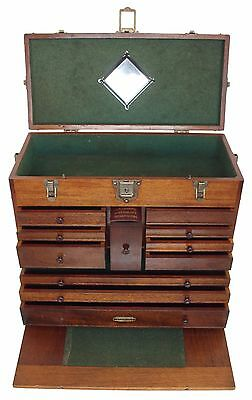 Extra Clean Walnut Machinist's Tool Chest - Very Little Used - w/ Machinist Book