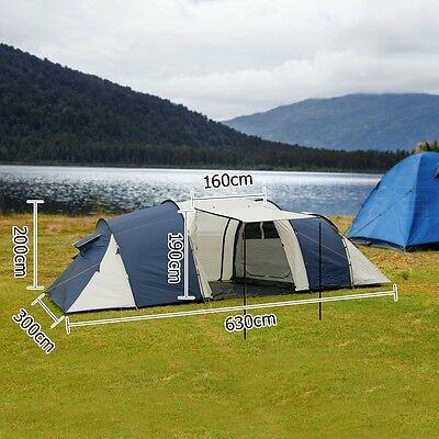Large Family Tent 12 Person Outdoor Camping Shelter Waterproof Shade Dome
