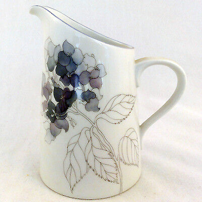 Hydrangea Block dinnerware Creamer NEW NEVER USED designer Goetzer Portugal