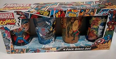 MARVEL COMICS PINT Bar Glass Set Of 4 NIB DOCTOR STRANGE