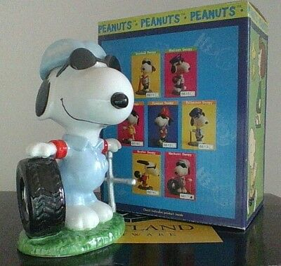 Peanuts Snoopy Mechanic Flambro Ceramic Excellent Condition Hard To Find