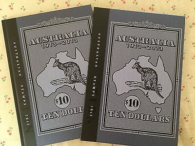 Collection of 2013 Australian Post Year Book Album with Stamps - Deluxe Edition