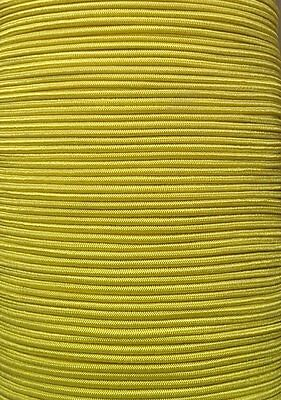 "1/8"" Premium Elastic Bungee Shock Cord YELLOW  by the Foot 5' & up, Cut lengths."