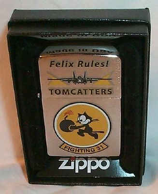 "Fighting VF 31 Squadron ""FELIX RULES""  TOMCATTERS Zippo US Navy"