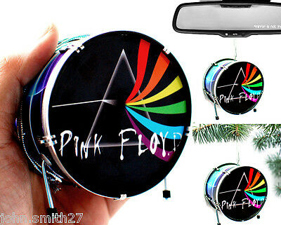 Nick Mason PINK FLOYD Mini Drums Ornament for Fridge, Christmas, Rear Mirror