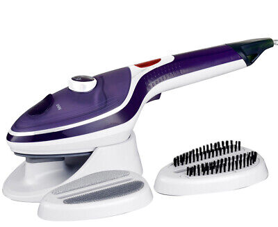 Steam Brush Iron Travel Handheld Portable Clothes Steamer Garment Brush Purple