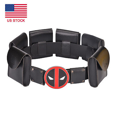 Deadpool X-Men Superhero metal Belt Accessories Kid Adult Costume Cosplay Props