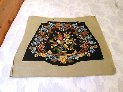 Vintage Completed Tapestry Panel Chair Cover Cushion Louis Style