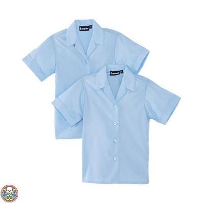 Blue Max Banner Tg: 34^ Chest Blu Revere Twin Pack Short Sleeve School Nuovo