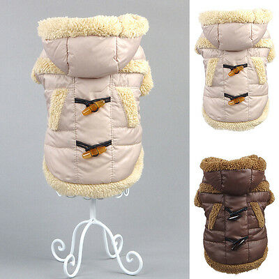Dog Cat Clothes Pet Apparel Puppy Winter Warm Coat Hoodie Jacket Dog Clothing
