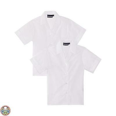 Blue Max Banner Tg: 32^ Chest Bianco Revere Twin Pack Short Sleeve Nuovo
