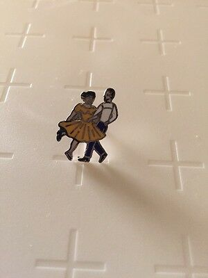 Square Dancing Couple Tie Tack Pin