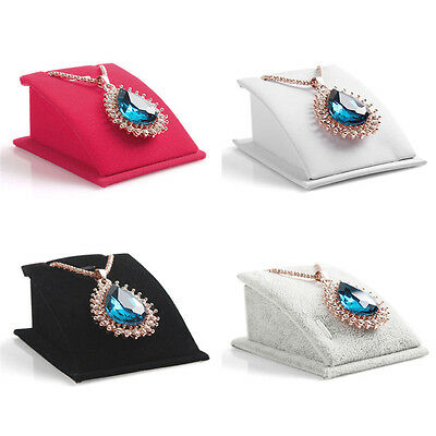 Hot Velvet Jewelry Necklace Pendant Drop Chain Display Holder Stand