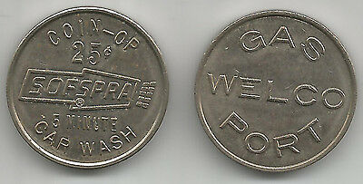 Plainfield, Illinois Sofspra Car Wash Token IL7050A Gas Welco Port