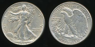 United States, 1944 Half Dollar, Walking Liberty (Silver) - almost Uncirculated