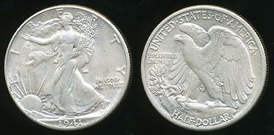 United States, 1941 Half Dollar, Walking Liberty (Silver) - almost Uncirculated