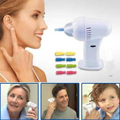 New Gentle WaxVac Electric Ear Cleaner Soft Wax Remover Cordless Earpick
