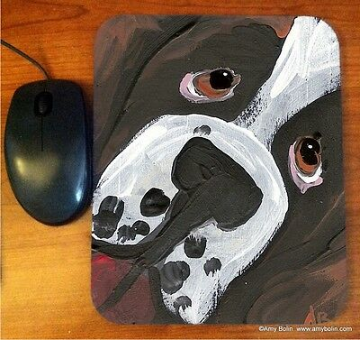 MOUSE PAD SAINT BERNARD IN YER FACE BY  Amy Bolin PUPPY