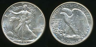 United States, 1943 Half Dollar, Walking Liberty (Silver) - Uncirculated