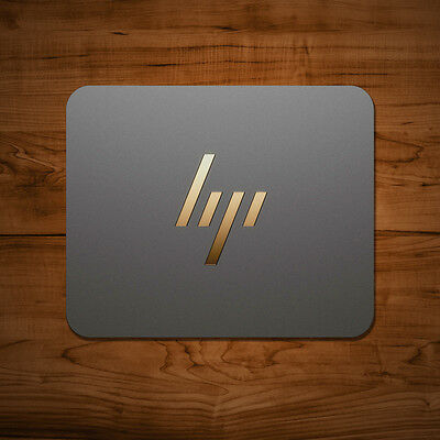 HP Spectre Mouse Mat Mac PC Apple Gaming 5mm Gold Letter Laptop Thick Desk Pad