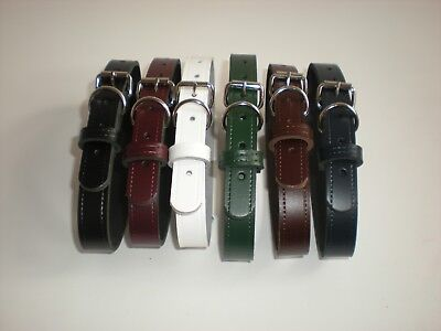 Real leather dog collars 7 colours available slight seconds