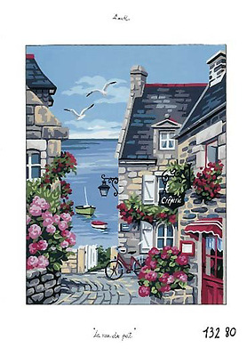 The Harbour Street - a Royal Paris Printed tapestry Canvas