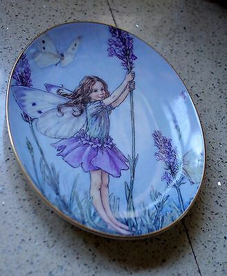 """The Lavender Flower Fairy 75Th Anniversary Royal Worcester Plate 9"""" Oval"""