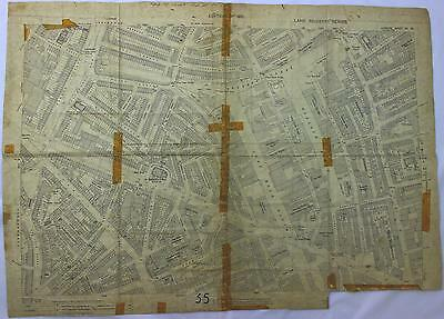 An original 1921 London map Islington, Regents Canal Architects Office
