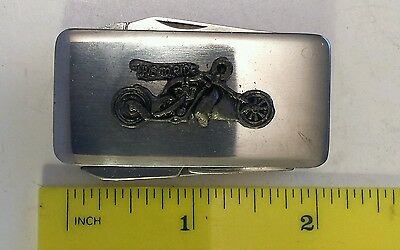 """Combination """"motorcycle Theme"""" Metal Money Clip, Knife, File And Scissors- China"""