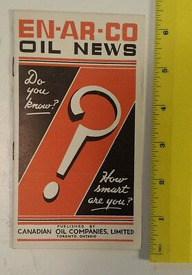 "Canadian (Toronto) White Rose/en-Ar-Co ""1936 En-Ar-Co Oil News"" Mint- (Reprint?)"