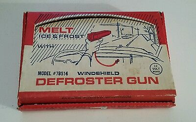 """Nos Boxed Canadian """"sears Car Windshield Defroster Gun"""" 12 Volt - Works"""