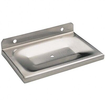 Bradley 9002 Heavy-Duty Soap Dish with Drain Hole - Stainless Steel - Silver