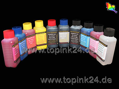 10x 100 ml Ink for Canon Pixma Pro 10 S PGI 72 PBK C Y M PC PM GY CO r MBK