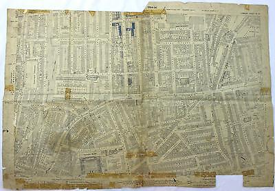 An original 1895 East London map Hackney, Columbia Market Architects Office
