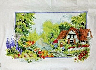 """NEW luxury finished completed Cross stitch""""Beautiful Spring""""decor sale gifts"""