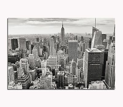 leinwand bild bilder schwarz wei new york skyline usa amerika city wolken haus eur 39 95. Black Bedroom Furniture Sets. Home Design Ideas
