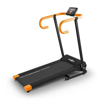 Klarfit: Profi Laufband Station Heimtrainer Fitnessgerät Lcd-Display 500W Orange