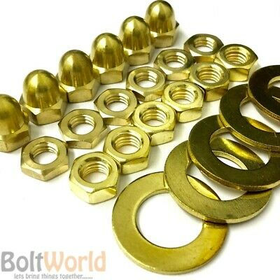 Solid Brass Full Nuts , Half, Dome Nuts, Flat Form A & B Washers, Cup Washers