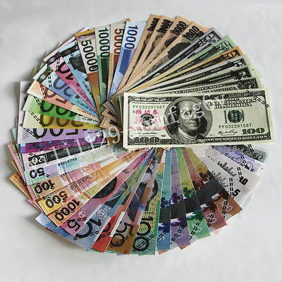 41pcs/set Multi-national Training Banknote Collection Game Props Home Decoration